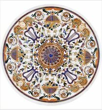 "36"" Marble Coffee Center Table Top Pietra Dura Inlay Work Home Decor And Garden"