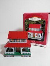 Hallmark Keepsake Tin Ornament., 1st Town & Country Series, Farm House, Qx6439