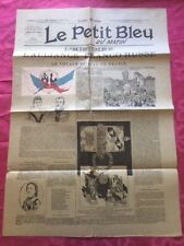 200818 - Journal Le petit bleu du matin - Tsar Nicolas II Alliance Franco-Russe