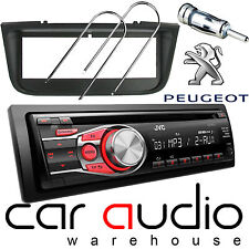 Peugeot 406 JVC CD MP3 AUX In RED Display Car Stereo Radio Player & Fitting Kit