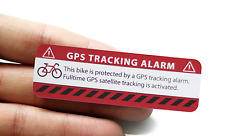 2x GPS Aufkleber  Fahrrad Alarm Warnaufkleber Anti Theft Sticker Bicycle Bike