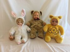 Anne Geddes Pink Bunny Baby Beanie Soft Doll Brand New Collectable Yet Not Vulgar Dolls Art Dolls-ooak