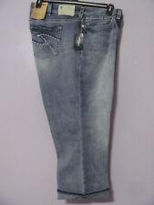 Silver Aiko Capri Jeans Womens Plus 22W x 22 1/2 Med Wash Mid Rise Slim Hip NWT