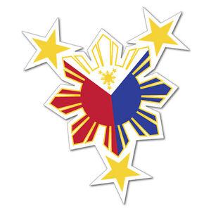 Philippines Sun Sticker Flag Bumper Water Proof Vinyl #6764EN