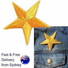 Star Iron on patch award golden glamorous stars embroidery heat transfer patches