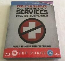 The Purge (2013) - Limited Edition Steelbook Blu-Ray Region Free | New