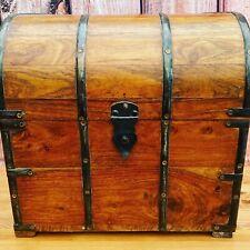 Vintage Wooden Chest Drinks / Wine Bottle Storage