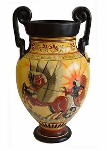 Apollo riding the Sun chariot -God of Light-Goddess Athena with Poseidon Contest