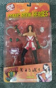 "Indie Spotlight Comic Book Heroes Kabuki 6"" Shocker Toys MOC"