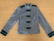 """Juicy Couture """"band jacket"""" Driftwood Gray, military style for woman, size Large"""