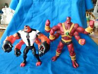Bandai BEN 110 Lot of (2) different FOUR ARMS action figures