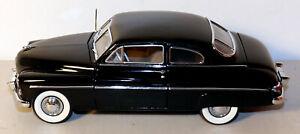 """DTE 1:24 DANBURY MINT BLACK 1949 MERCURY CLUB COUPE 8 1/2"""" LONG X 3"""" WIDE  2 3/4"""