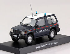Mitsubishi Pajero Carabinieri Polizei dunkelblau 2003 1:43  Modellauto