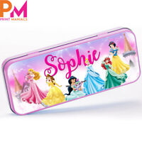 Personalised Cute Girls Stylish pink disney Pencil Cases Makeup Pen Bags tin