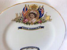 "Aynsley Queen Elizabeth Coronation Plate 1953 8"""