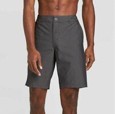Goodfellow & Co Mens Hybrid Swim Shorts Board 30 S Black Stripe Trunks Quick Dry
