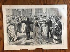 Grand Ball. President Grant. Stetson House. Long Branch. Wood Engraving, 1869.