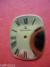 Cadran doré de forme de montre ancienne Jaeger LeCoultre vintage.esfera dial