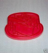 Vtg Tupperware Cookie Cutter Birthday Cake Imprint Red