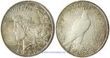 USA  ,   PEACE  DOLLAR ,   ARGENT  ,  1922  ,  SUPERBE