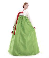 Hanbok Robe Coreenne sur mesure Elegance Naturelle Tenue de soiree Blanc Vert