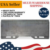 """5/16"""" Mount Plate Loader Skid Steer Quick Tach Attachment Steel HD For Kubota"""