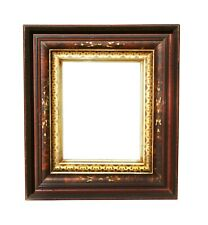 Antique Shadow Box Frame, Walnut,Faux Tortoise Shell Paint Decoration&Gilding
