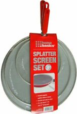 'Splatter Screen Splash Proof Guard Frying Pan Grease Mesh Set 3 Handle Stainless' from the web at 'https://i.ebayimg.com/thumbs/images/g/dhcAAOSw-olaN8-n/s-l225.jpg'