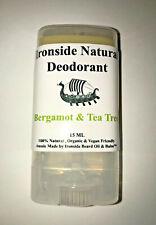 "Deodorant Stick Natural  Vegan Friendly Organic ""Bergamot & Tea Tree"""