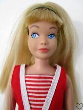 Vtg 1964 SKIPPER Doll Blonde Hair Swimsuit #0950 Brass Headband Straight Legs