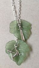LORD of the RINGS.. Mallon Leaf, Bow, Hobbit Sword Pendant on 925 Silver Chain