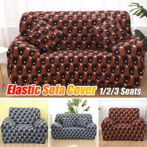 3D 1/2/3 Seater Stretch Sofa Cover Couch Lounge Recliner Slipcover Protecto