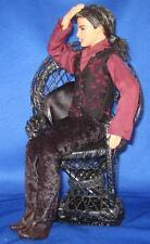 Gothic Melancholy New Orleans Vampire~OOAK Barbie Ken Doll Repaint