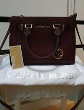 Original MICHAEL KORS Tasche Echtleder Bordeaux Rot Handtasche bag MK leather