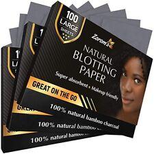 Natural Bamboo Charcoal Blotting Paper - 300 Super Absorbent Sheets New
