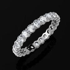 4Ct Round Cut Brilliant Eternity Wedding Ring 14K White Gold Sizes 6-8