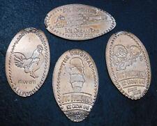 Arroyo Grande,Ca.- Doc Burnstein's Ice Cream Lab - Four Copper Elongated Pennies