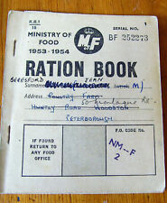 Ministry of Food 1953-1954 Ration Book - Issued Peterborough