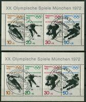 2 x Bund Block Nr. 6 gestempelt ESST München BRD Olympische Spiele Sapporo used