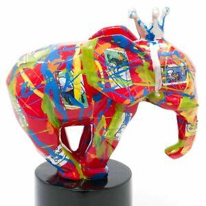 Elefant King Jumbo Pop Art Elephant Elefanten Figur Skulptur  - 20553A