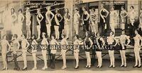 "1927 ATLANTIC CITY BATHING BEAUTIES VINTAGE PANORAMIC PHOTOGRAPH 28"" Long"