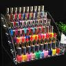 Cy_ Clear Nail Polish Rack Organizer Display Holder Shelf Cosmetic Varnish Stand
