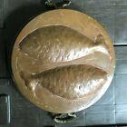 Vintage Large Copper & Tin Fish Mold