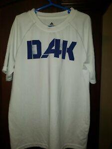 Adidas Dak Prescott Dallas Cowboys YOUTH Boys Size M White Tshirt