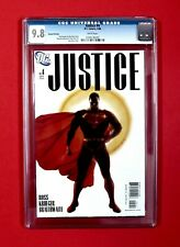 JUSTICE #4 2006 CGC 9.8 - 2nd Print Variant - Alex Ross Superman Cover