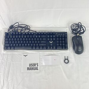 Havit Mechanical Gaming Keyboard Mouse Combo Black HV-KB393L Changing Light New