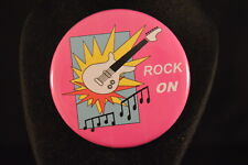 """Rock On"" Lot of 5 Buttons pins pinbacks 2 1/4"" badges awards Large New! music"