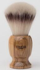 Timor SOLINGEN Rasierpinsel VEGAN synthetische Haare SilberspitzOptik OLIVENHOLZ