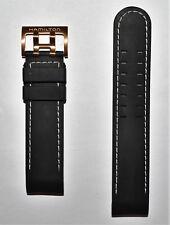 Original Hamilton Khaki X-Wind 22mm Black Rubber Band Strap for Watch H77696333