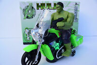 Avengers - Hulk Figure & Motorbike Flashing Light & Music Sound Bump N Go - NEW